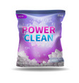 washing powder and detergent bag package vector image vector image
