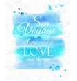 Watercolor sea vector image vector image