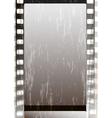 Grunge grey fragmentary film strips vector image