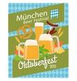 Oktoberfest 2015 poster vector image