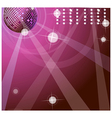 background with disco ball vector image