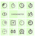 14 chronometer icons vector image vector image