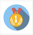 1st place medal flat icon vector image vector image