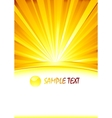 abstract sunny banner with glass sphere vector image vector image