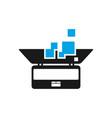 advanced laptop technology logo vector image vector image