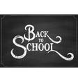 back to school chalk hand drawing background vector image vector image