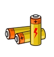 batteries icon vector image
