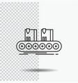 belt box conveyor factory line line icon on vector image vector image
