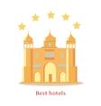 Best Five Stars Indian Hotels Concept vector image vector image