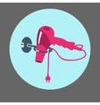 Blow hairdryer with cord and plug on support vector image