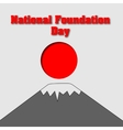 Card for National Foundation Day in Japan Design vector image