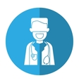 character doctor beard stethoscope health shadow vector image