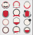 collection badges and labels black and red 05 vector image vector image