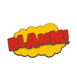 comic boom blamm icon flat style vector image vector image