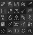 construction minimal outline icons vector image vector image