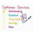 Customer service Ranking vector image