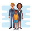 cute family cartoon vector image vector image