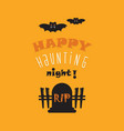 cute happy haunting night greeting card vector image vector image
