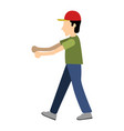 delivery boy icon vector image vector image