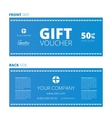 Design of Voucher and Gift certificate vector image vector image