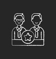 directorate chalk white icon on black background vector image vector image