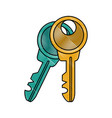 door keys isolated vector image vector image