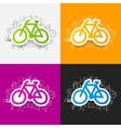 drawing business formulas bicycle vector image