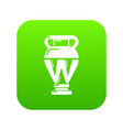 egyptian vase icon green vector image