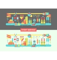 Event service design flat vector image vector image