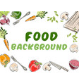 food background banner vector image