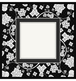 frame of flower on black background vector image