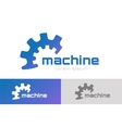 gear logo icon template machine progress vector image