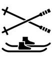 glyph beautiful snowboard icon vector image vector image