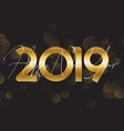 gold happy new year background vector image vector image