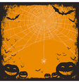 halloween background with spider web vector image vector image