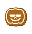 halloween cookie pumpkin cookies for terrible vector image vector image