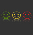 hand drawn smiley icon on mirror emotion face in vector image vector image