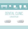 health dental implant web design template vector image