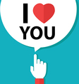 I love you forefinger with bubble vector image