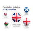 infographics of population statistics in britain vector image