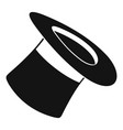 inverted hat icon simple style vector image