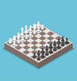 isometric chess piece or chessmen with board vector image vector image