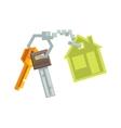 Keys on Key Ring vector image vector image