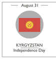 Kyrgyzstan Independence Day vector image vector image