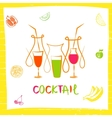 logo for fresh fruit coctail vector image vector image