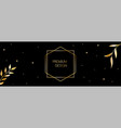 luxury long banner with golden leaves vector image vector image