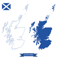 map of scotland vector image