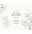 marriage invitation card with custom sign vector image vector image