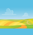 meadow cartoon landscape great design for any vector image vector image
