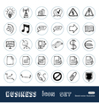 media web icons set vector image